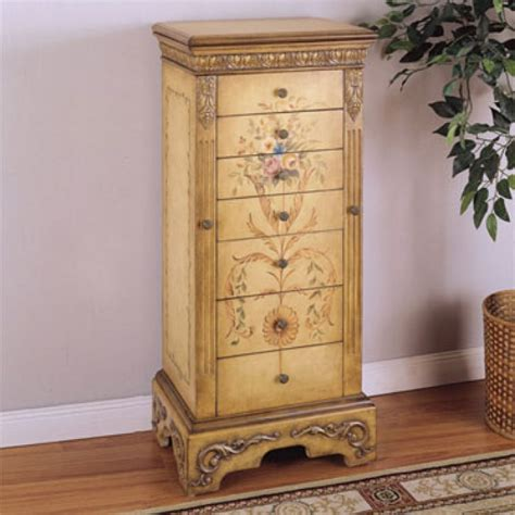 Image of: Interest Antique Jewelry Armoire