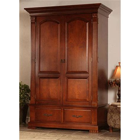 Image of: Interest Cherry Wood Armoire