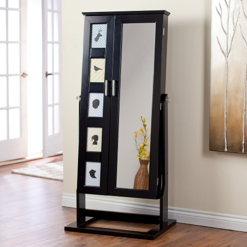 Image of: Interest Cheval Mirror Jewelry Armoire