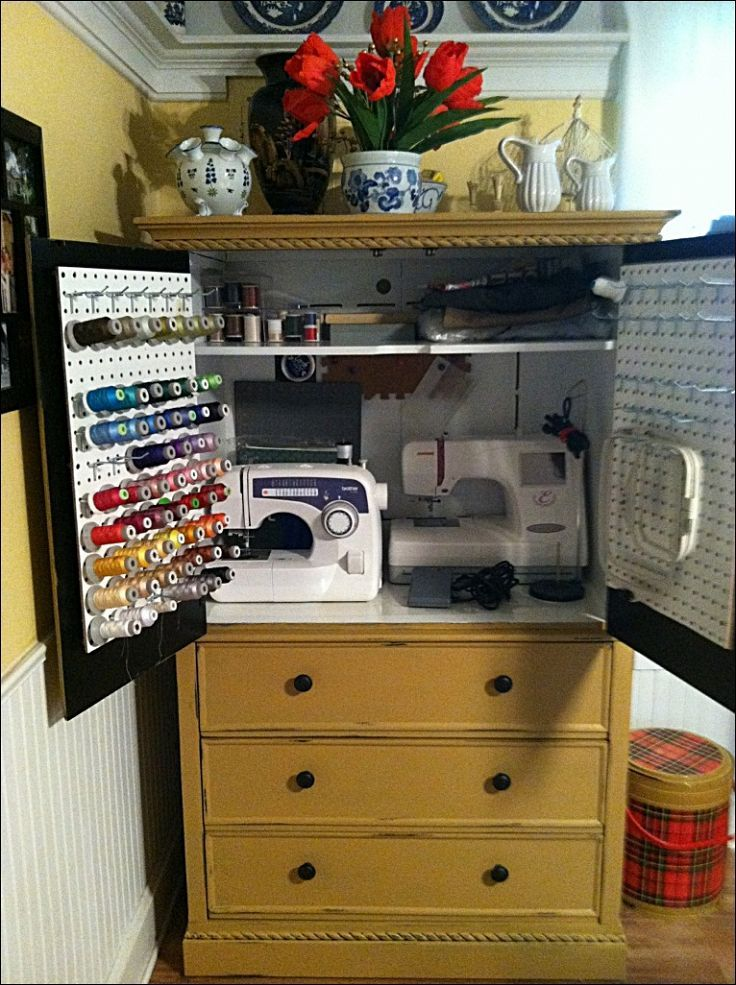 Image of: Interest Sewing Armoire