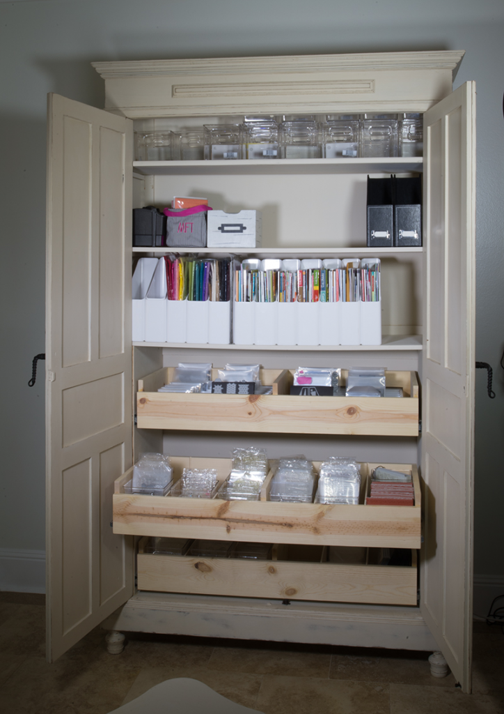 Image of: Interior Craft Cabinet Armoire