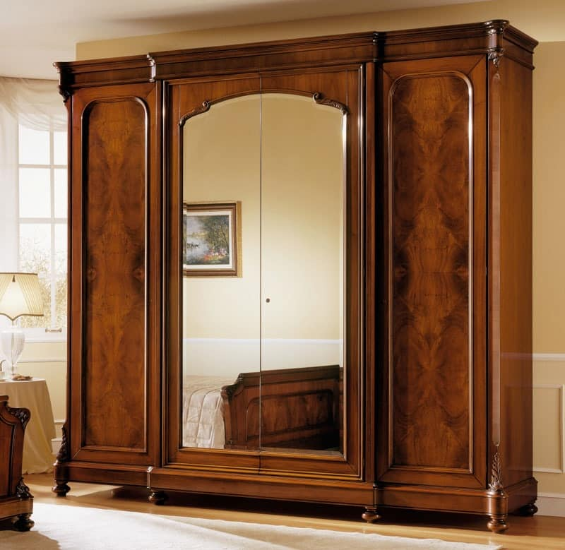 Picture of: Large Armoire Wardrobe with Mirror