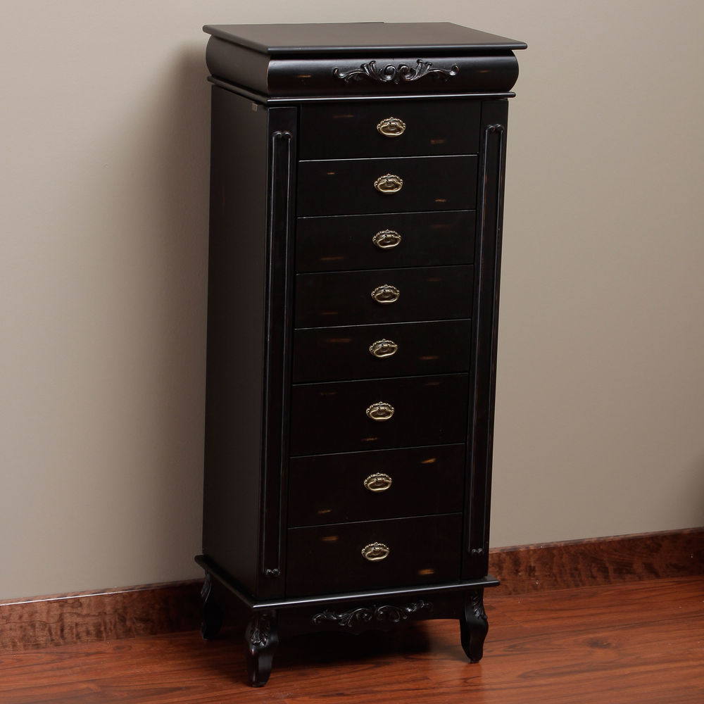 Image of: Large Black Jewelry Armoire