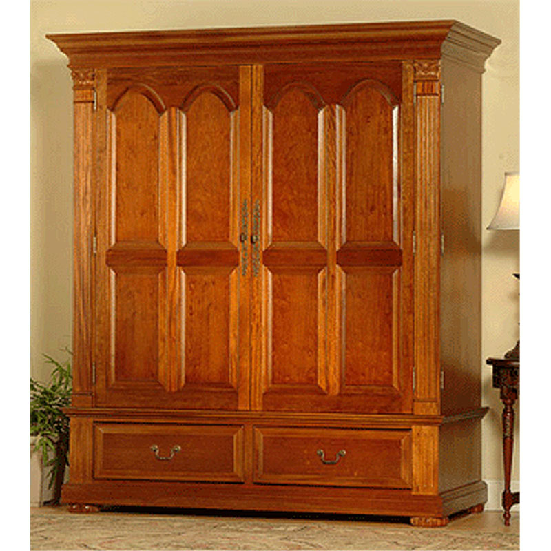 Image of: Large Cherry Armoire