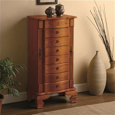 Image of: Large Cherry Jewelry Armoire