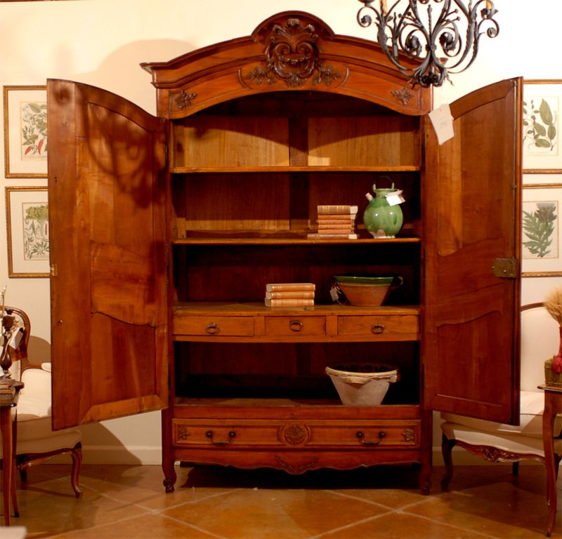 Image of: Large Cherry Wood Armoire