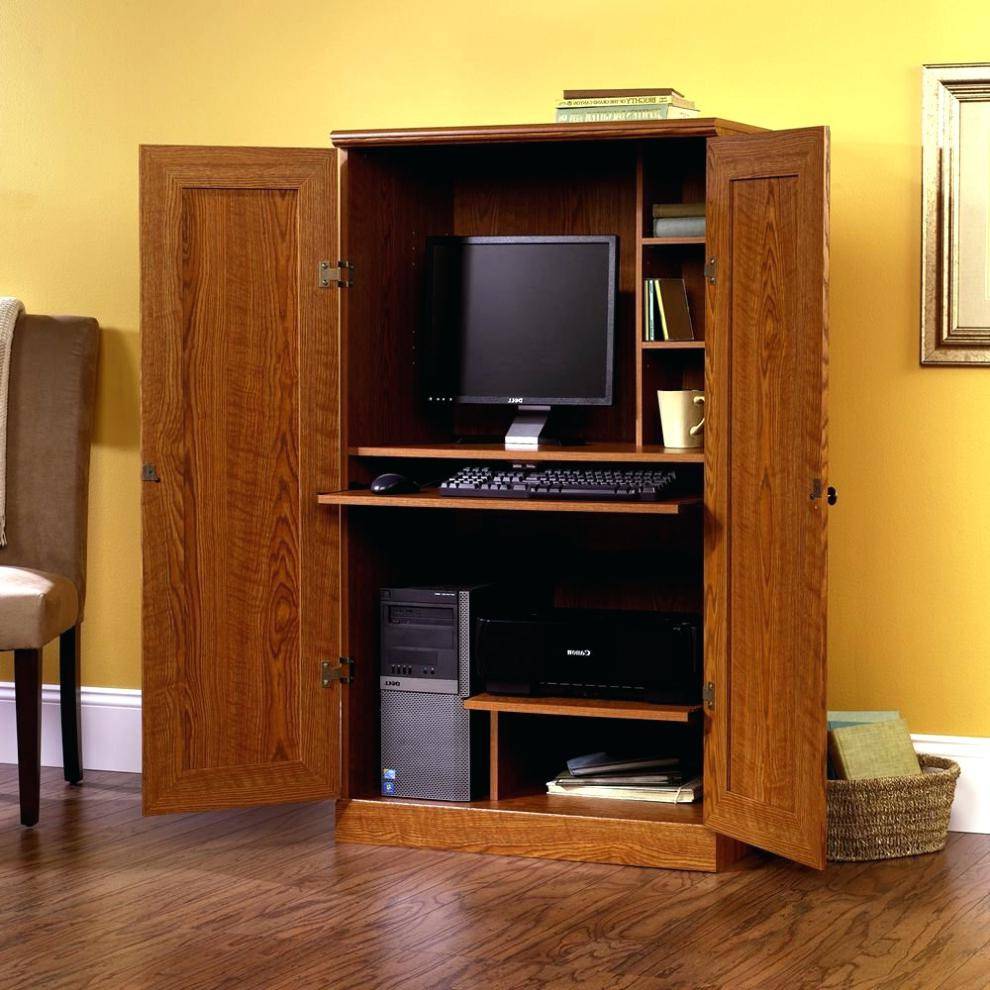 Picture of: Large Corner Computer Armoire