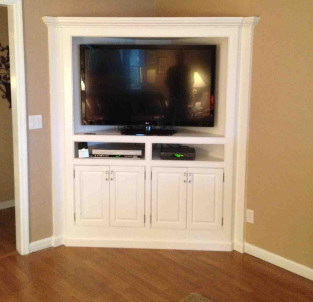 Image of: Large Corner TV Armoire