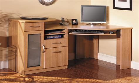 Picture of: Low Corner Computer Armoire