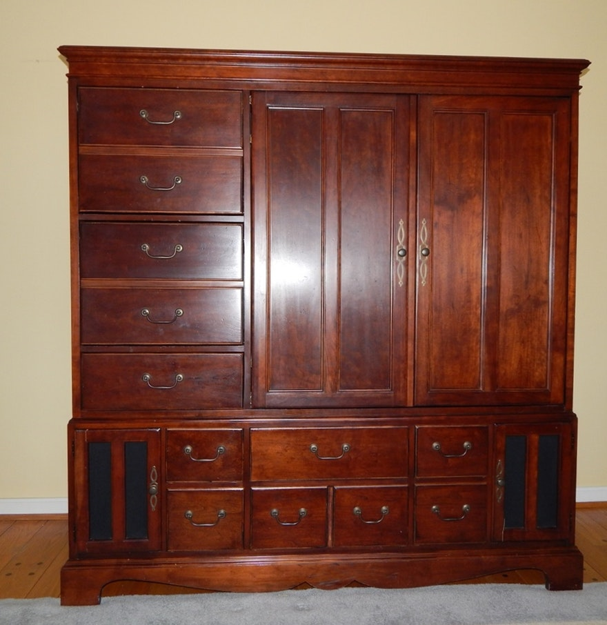 Picture of: Mahogany Armoire Entertainment Center