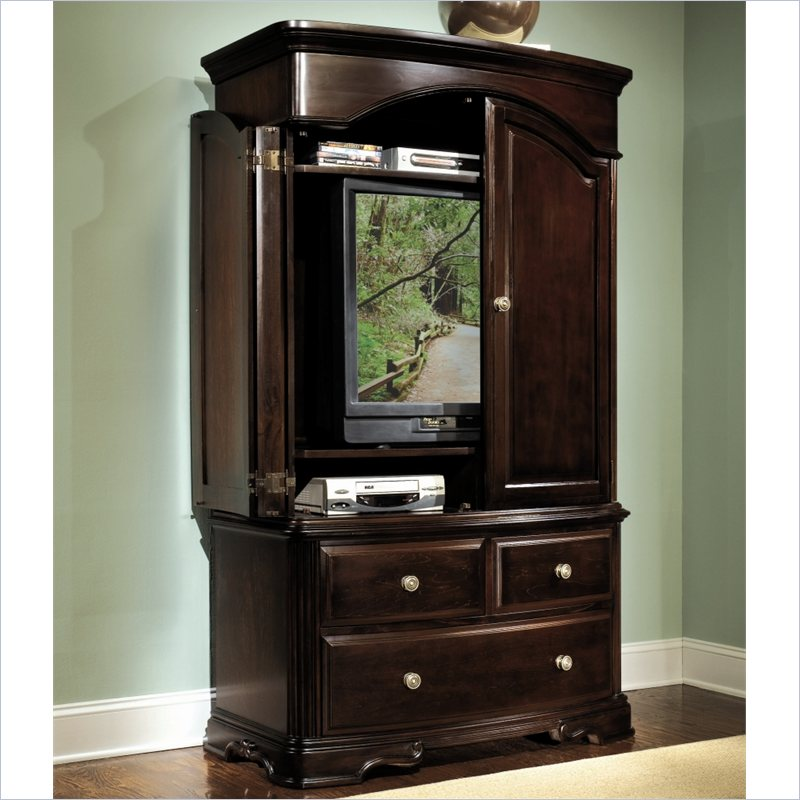 Image of: Mahogany Entertainment Armoire