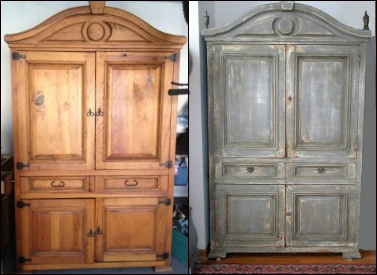 Picture of: Makeover Entryway Armoire