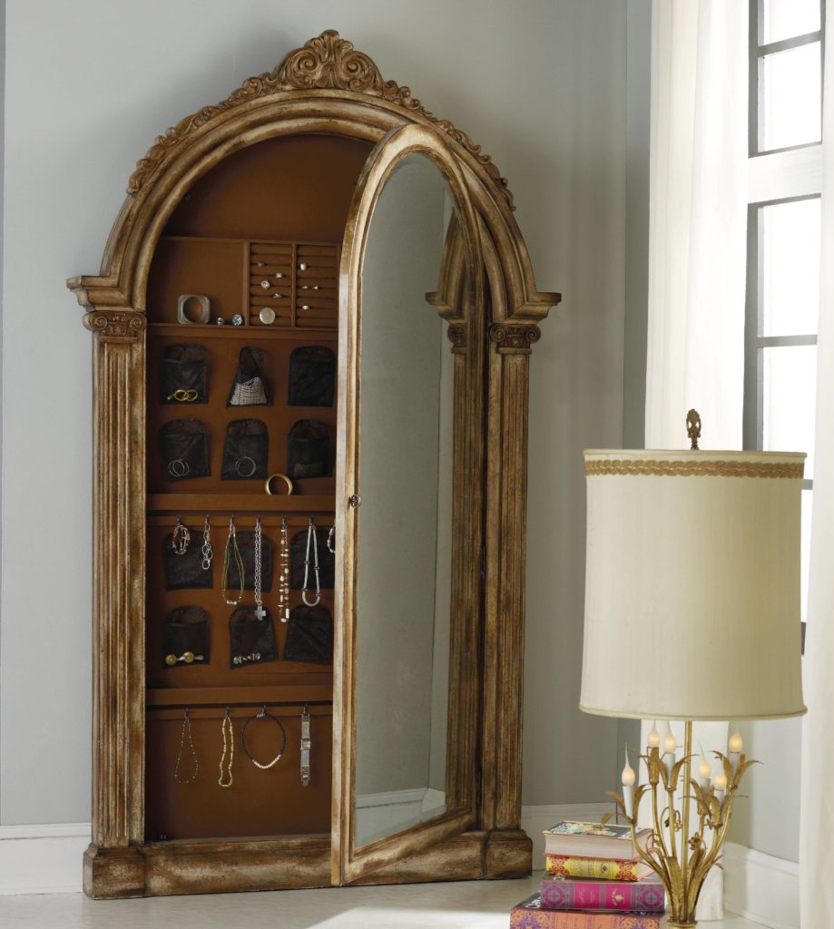 Image of: Mirror Antique Jewelry Armoire