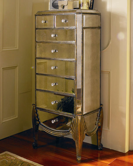 Image of: Mirrored Jewelry Chest Armoire