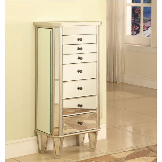 Mirrored Powell Jewelry Armoire