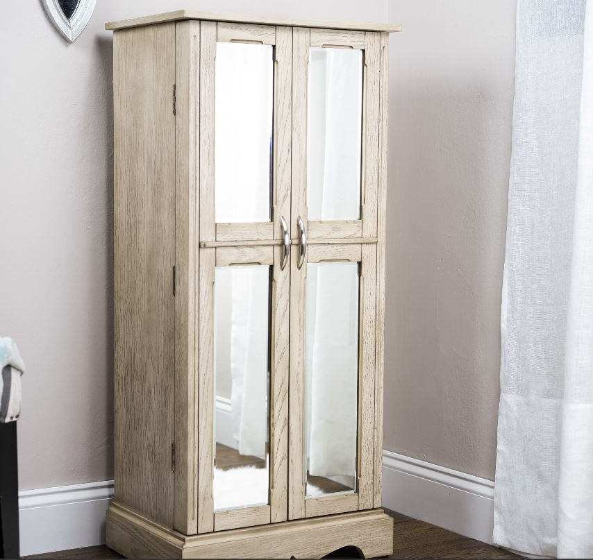 Image of: Mirrored Stand Up Mirror Jewelry Armoire