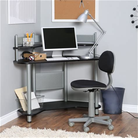 Picture of: Modern Corner Armoire Computer Desk