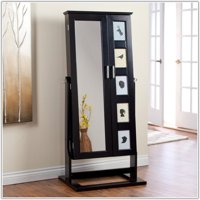 Picture of: Modern Full Length Mirror Jewelry Armoire