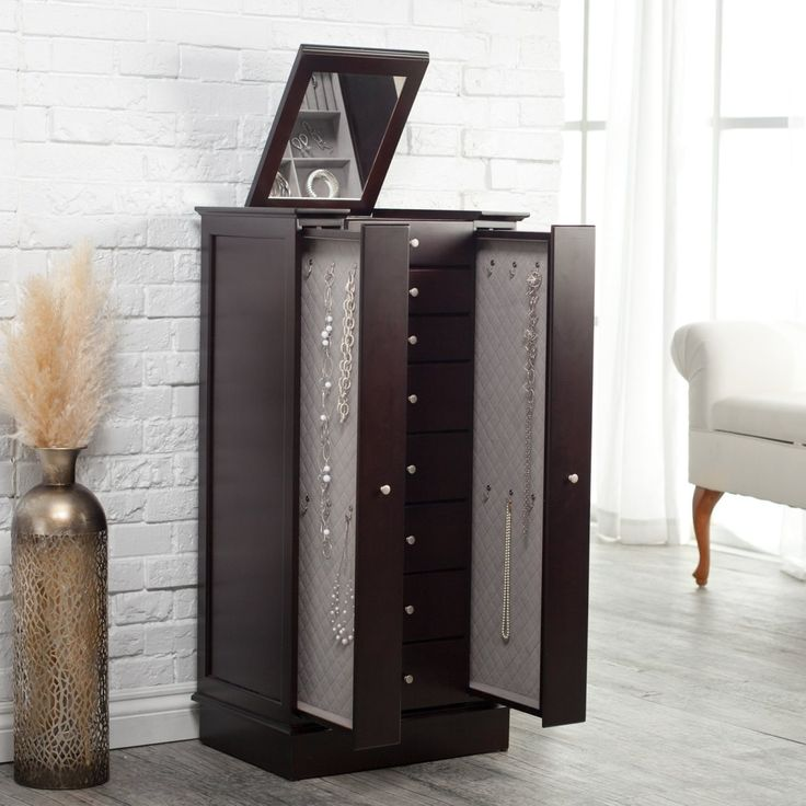 Image of: Modern Jewelry Chest Armoire