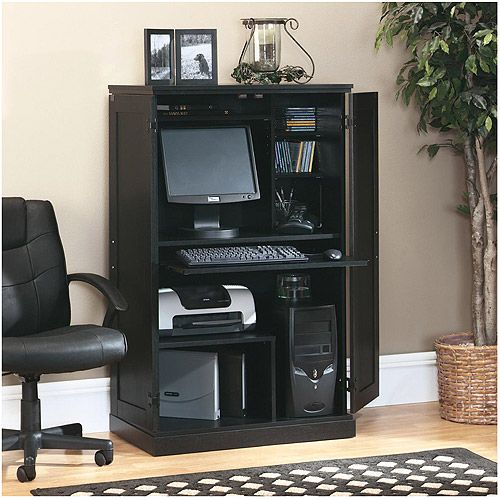 Picture of: Modern Sauder Computer Armoire