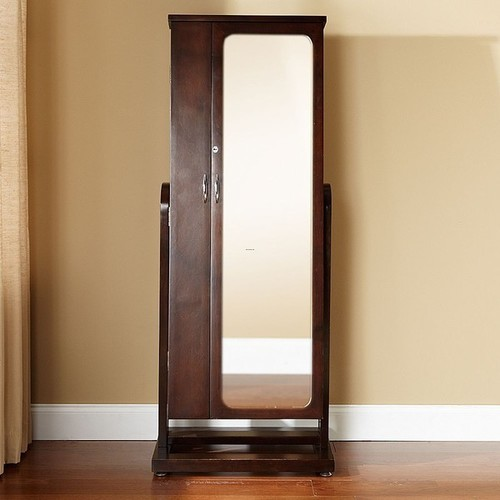 Image of: Modern Standing Mirror Jewelry Armoire