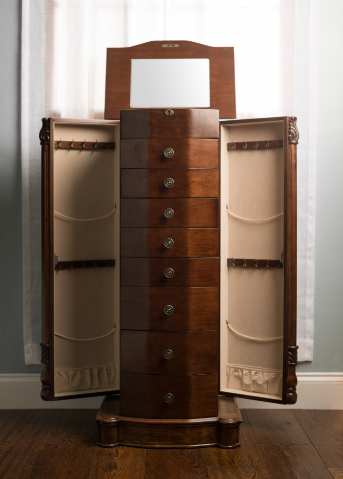 Picture of: Modern Wooden Jewelry Armoire