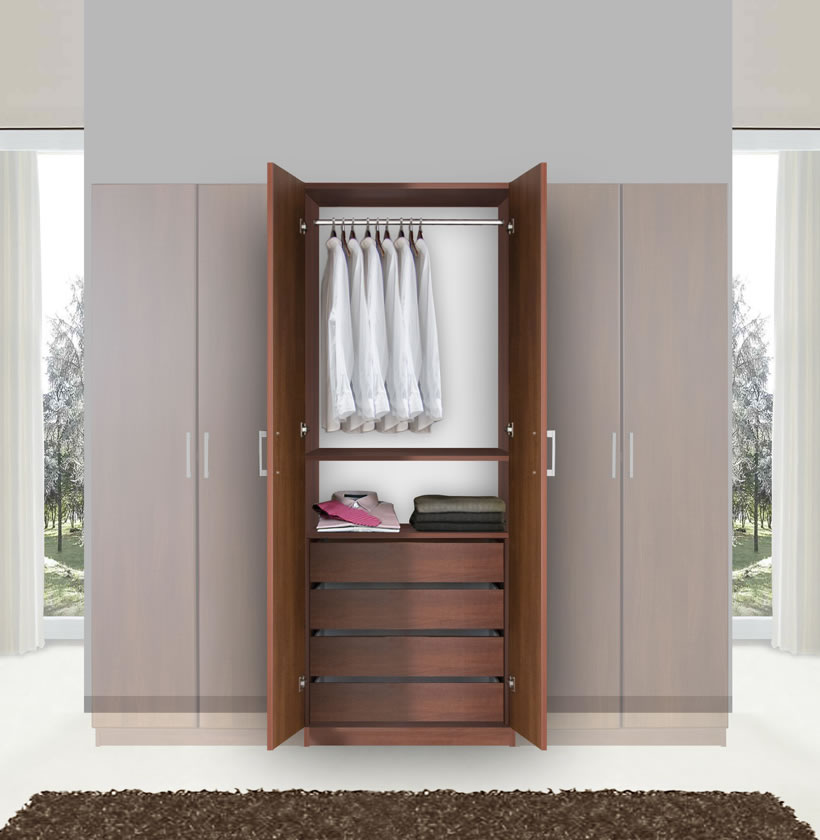 Picture of: Narrow Armoire Wardrobe Closet