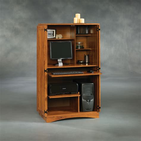 Image of: Narrow Computer Cabinet Armoire