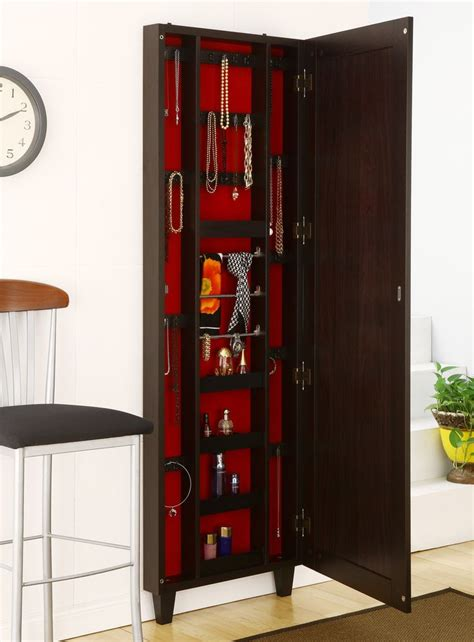 Picture of: Narrow Hanging Jewelry Armoire