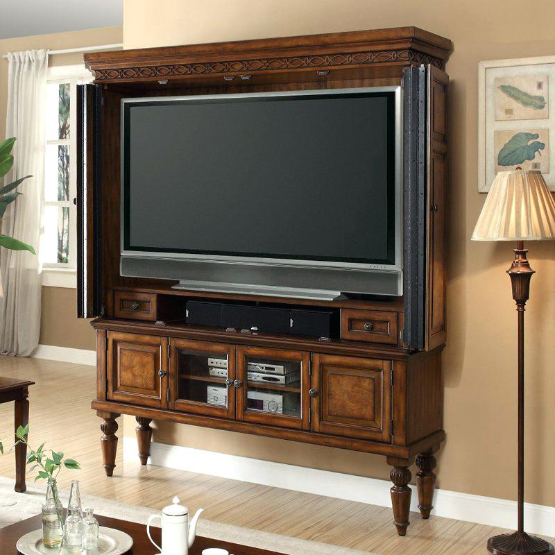 Image of: Nice Armoire Entertainment Center