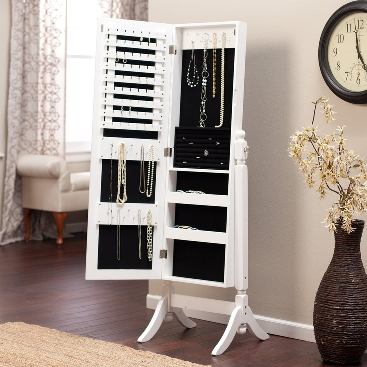 Image of: Nice Cheval Mirror Jewelry Armoire