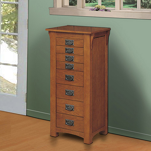 Image of: Nice Oak Jewelry Armoire