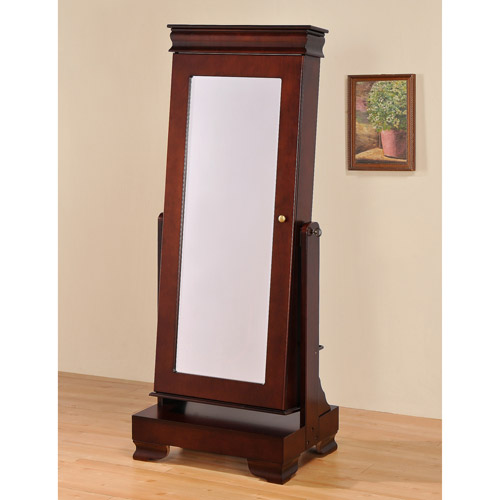 Image of: Nice Stand Up Mirror Jewelry Armoire