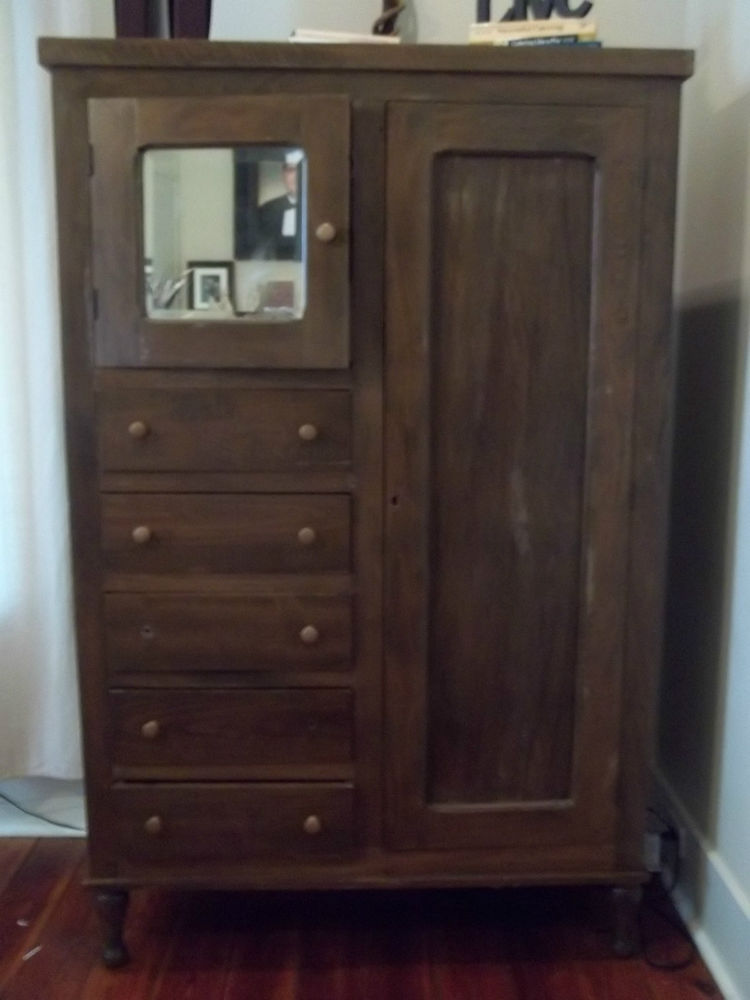 Picture of: Oak Antique Armoire Wardrobe