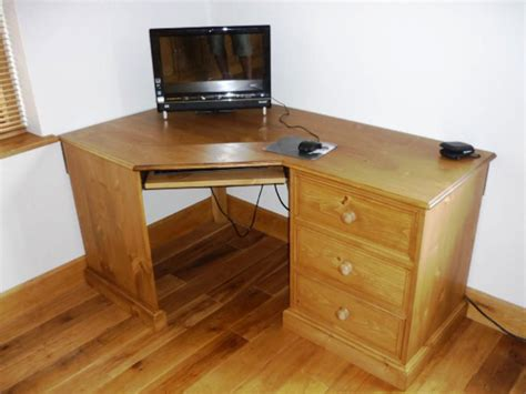Image of: Oak Corner Armoire Desk