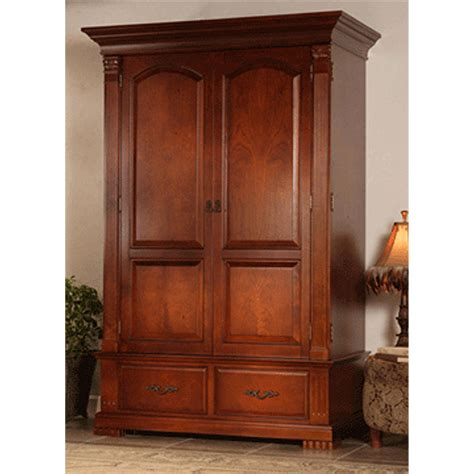 Image of: Oak Entertainment Armoire