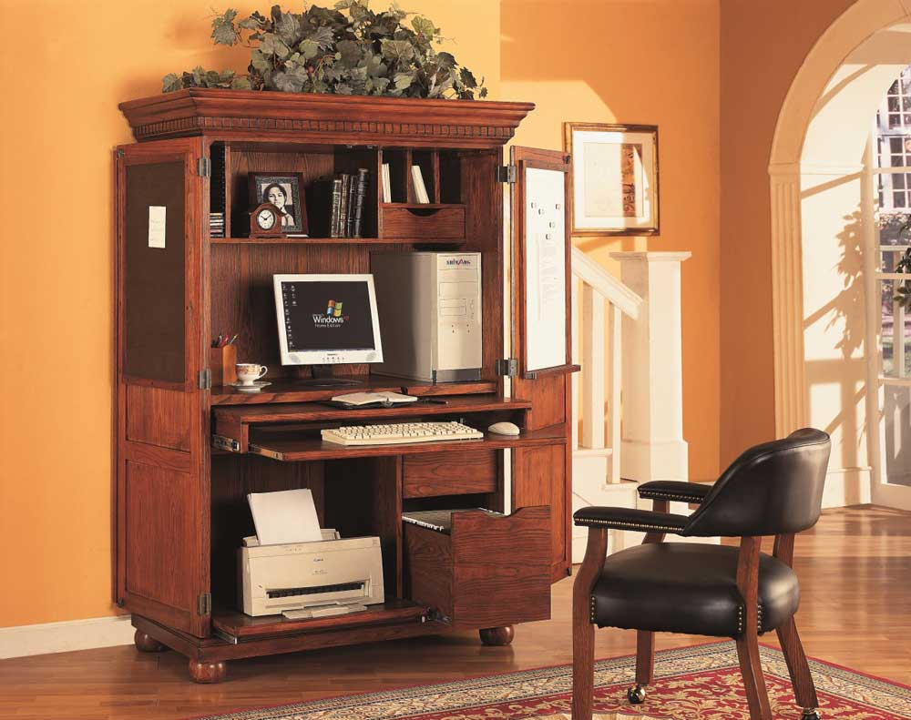 Picture of: Oak Office Armoire