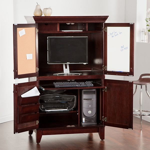 Picture of: Office Armoire Desk