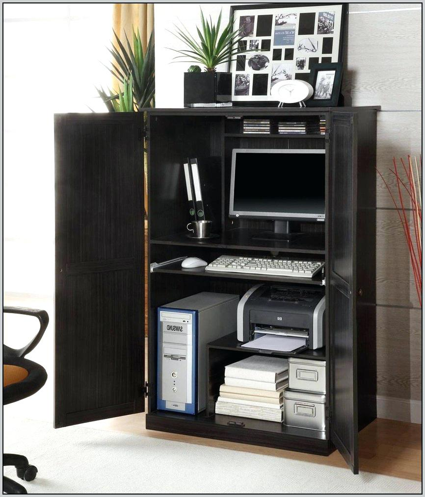 Image of: Office Computer Armoire Ikea