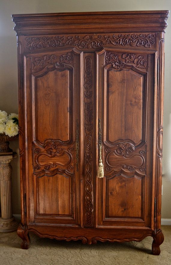 Picture of: Original Antique Armoire Wardrobe