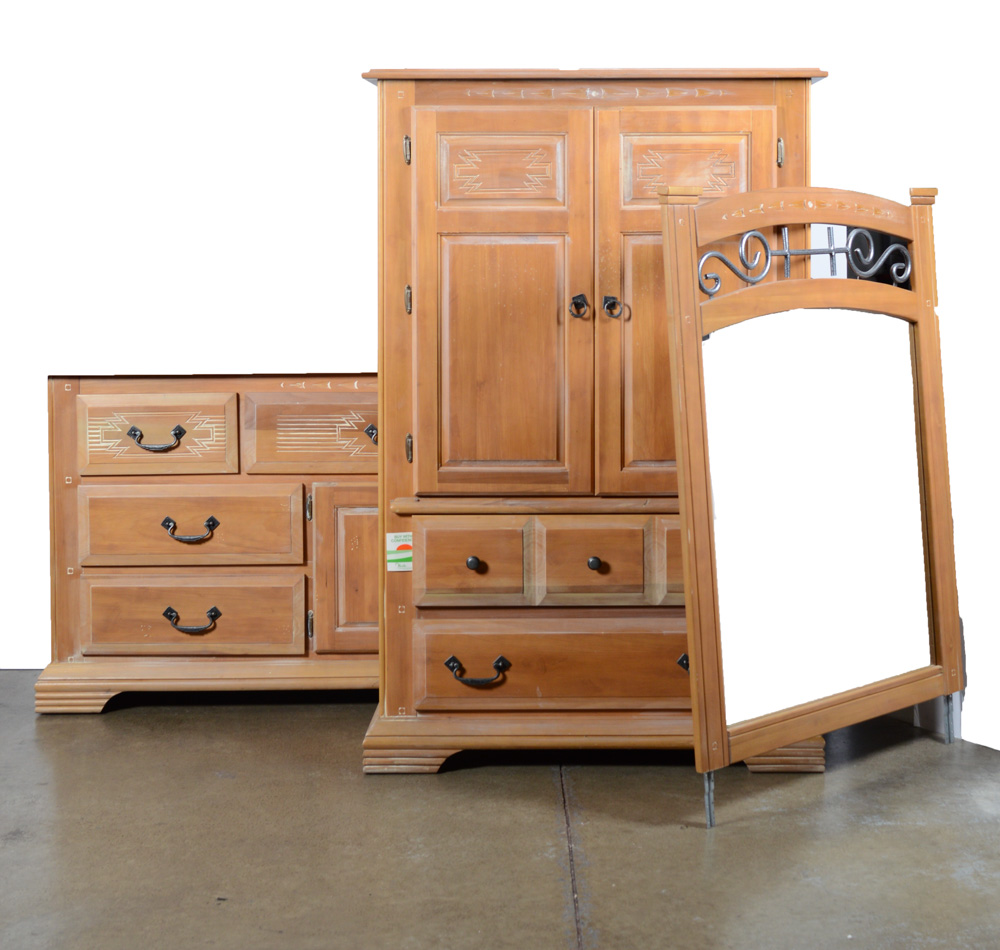 Image of: Pine Armoire Dresser