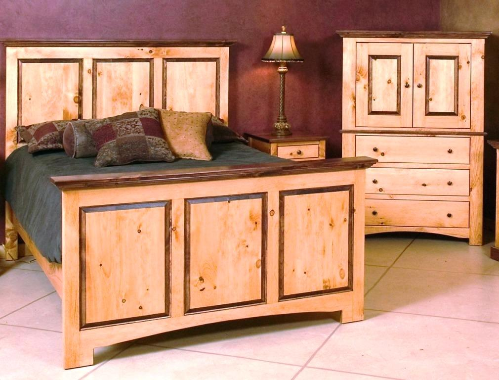 Pine Armoire Furniture Set