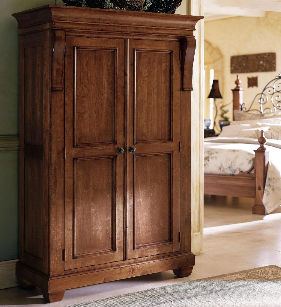 Image of: Pine Armoire Wardrobe