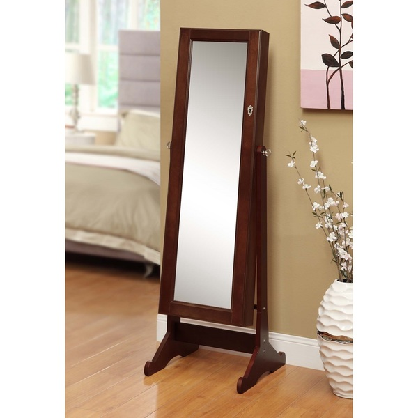 Image of: Premium Stand Up Mirror Jewelry Armoire