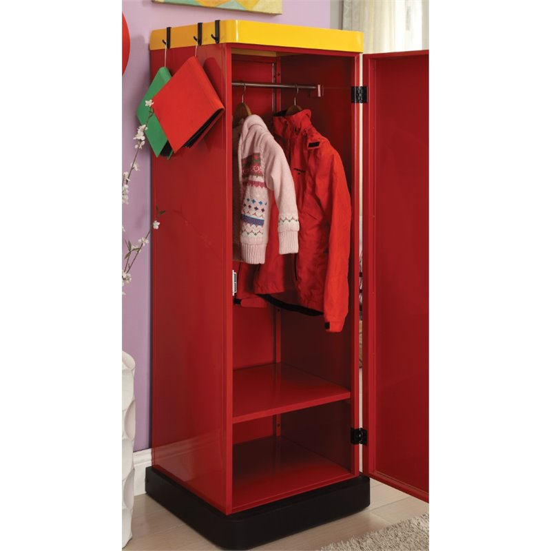 Image of: Red Children's Armoire
