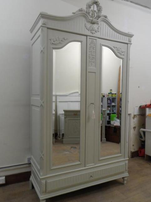 Picture of: Remarkable Mirrored Armoire Wardrobe