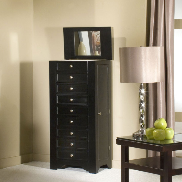 Image of: Review Black Jewelry Armoire