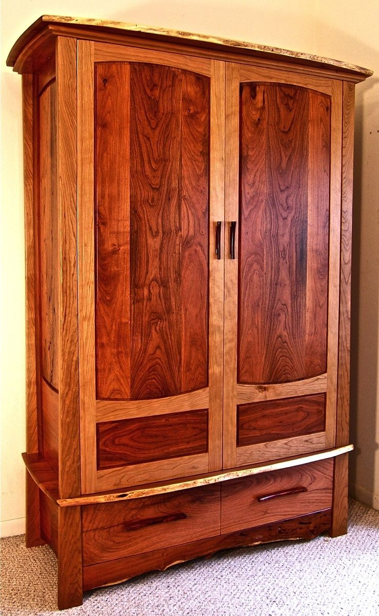 Image of: Review Cherry Wood Armoire