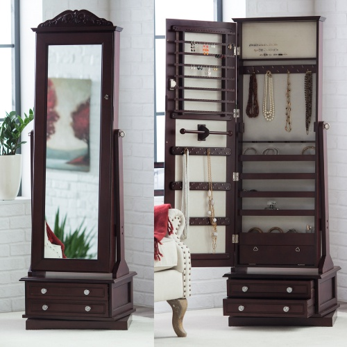 Image of: Review Cheval Mirror Jewelry Armoire