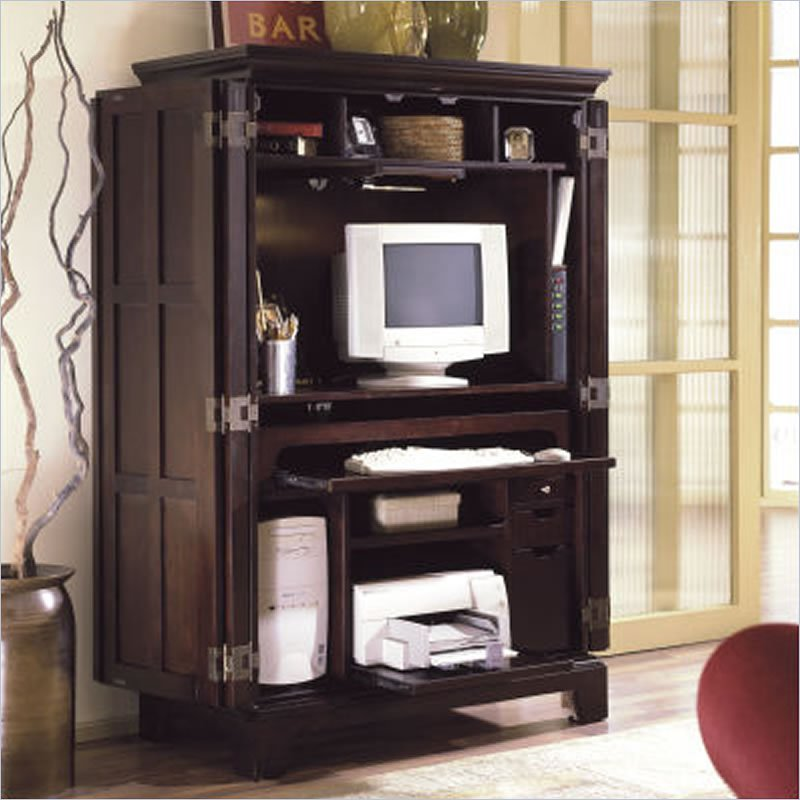 Image of: Review Computer Armoire